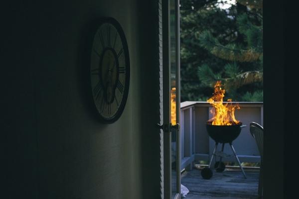 Angolo barbecue sul balcone