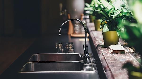 Lavabo per cucina in acciaio inox