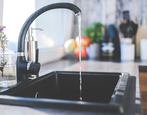 Lavabo cucina nero con vasca singola