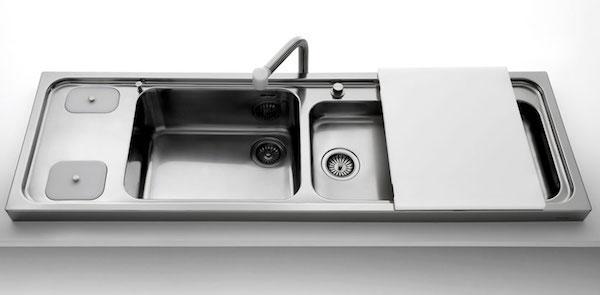 Lavabo da appoggio per cucina - design by Alpes Inox