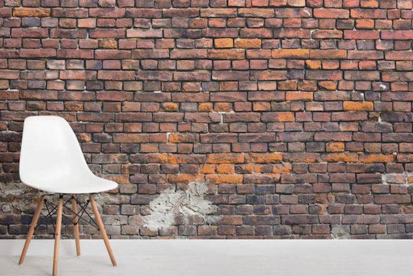 Rinnovare i muri della cantina con la carta da parati - Rivestimento MuralsWallpaper in stile industrial