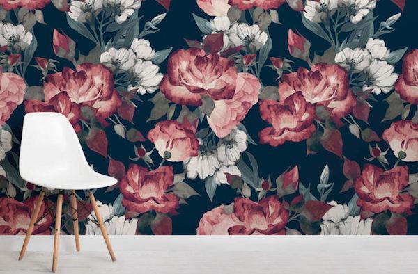 Carta da parati floreale MuralsWallpaper - Rivestire i muri della cantina