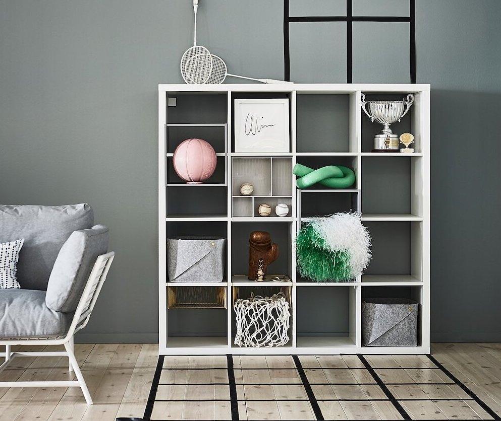 Organizzare la cantina con lo scaffale da riordino Ikea Kallax