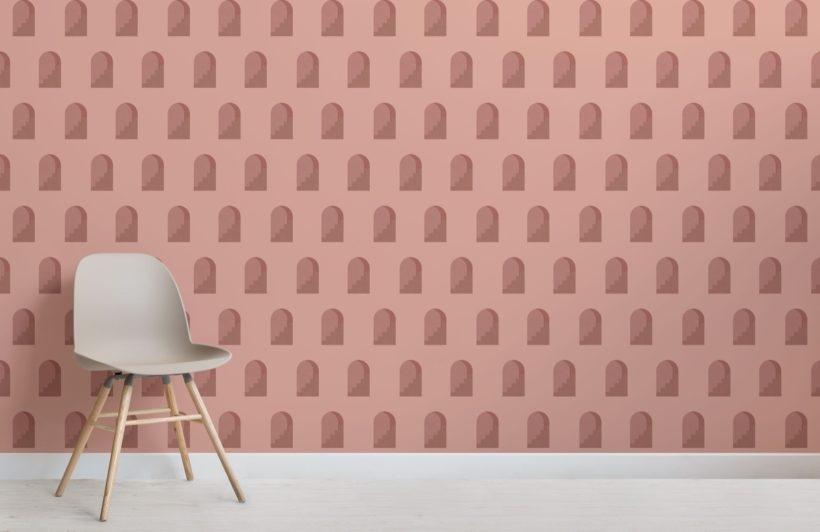 Rinnovare la cantina con la carta da parati - Terracotta Archway by MuralsWallpaper