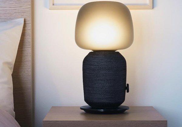Lampada-altoparlante colore nero - Foto e design Ikea e Sonos