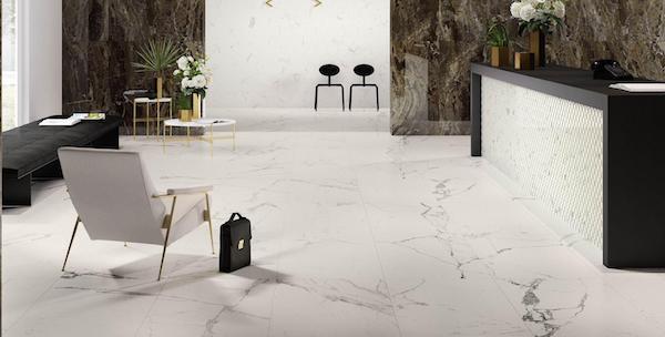 Piastrelle in gres effetto marmo - Foto e design by Marazzi