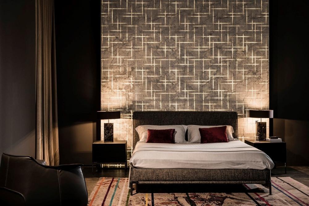 Pareti design retroilluminate in marmo - Progetto e foto di Lithos Design