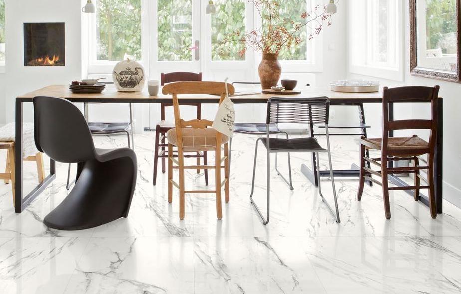 Pavimentazione in gres effetto marmo, collezione Preview - Foto e design by Marazzi