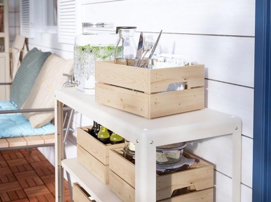 KOLBJÖRN, mobile per esterni con ripiani - design by IKEA