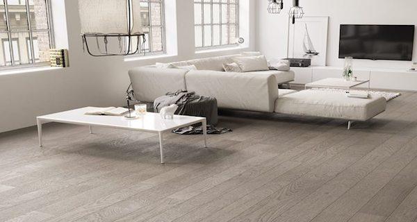 Pavimento salotto in Rovere grigio sabbia - design e foto by Cadorin