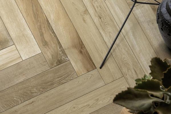 Treverkfusion by Marazzi, pavimentazione salotto in gres porcellanato effetto legno