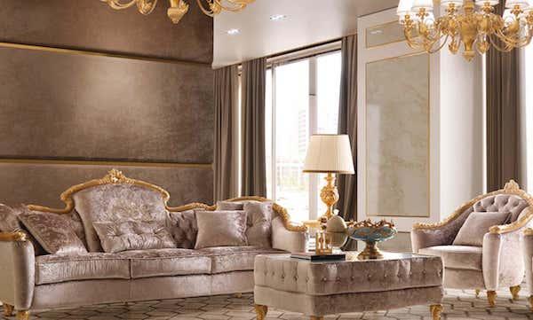 Arredamento soggiorno in stile barocco - foto e design di Andrea Fanfani