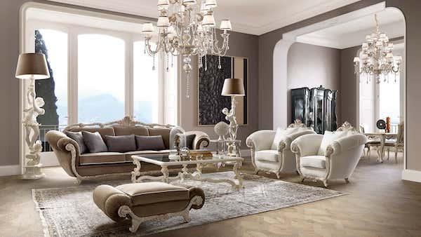Collezione living in stile barocco moderno Tornabuoni - Foto e design by Andrea Fanfani