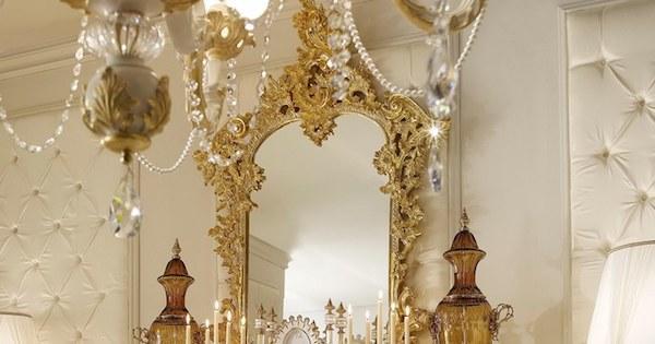 Arredo living in stile barocco, specchiera Opera - Design e foto by Andrea Fanfani
