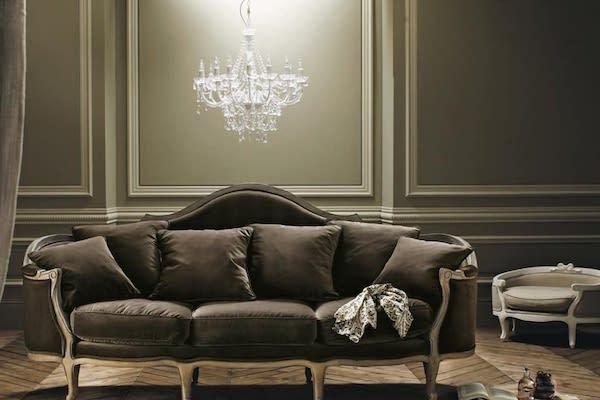 Lampadario in stile barocco con pendenti Isabeau - Design e foto by Maisons du Monde