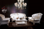 Zona living mood barocco in colori chiari - Design e foto di Lopezi Arredamenti