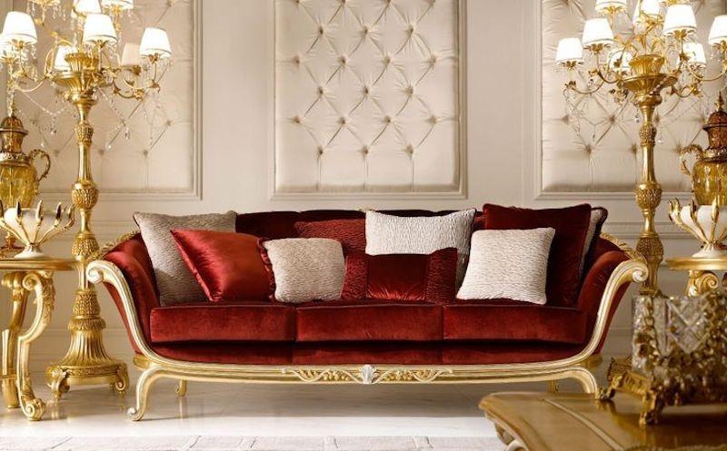 Divano classico in stile barocco - design by Andrea Fanfani
