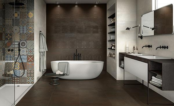 Gres effetto metallo NovaBell forge metal bagno