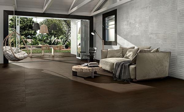 Gres effetto metallo NovaBell forge metal living