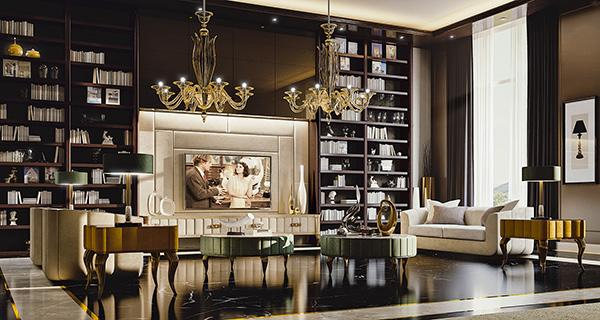 Interni stile barocco rivisitati Valdera mobili
