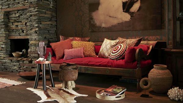 Stile venezia divano letto rosso Westwing.it