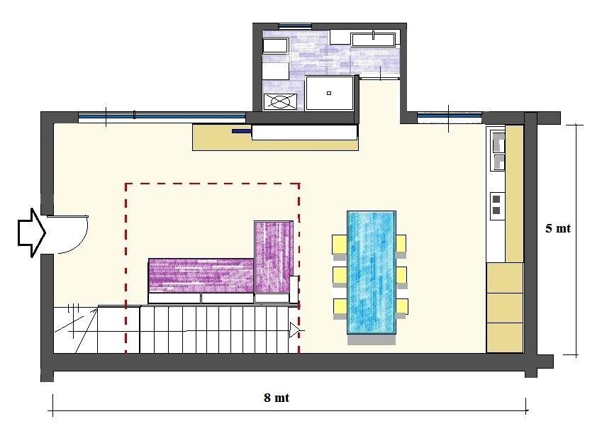 Loft appartamento: pianta di progetto