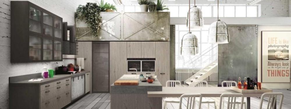 Arredo loft con Cucina: Sistema Loft Snaidero