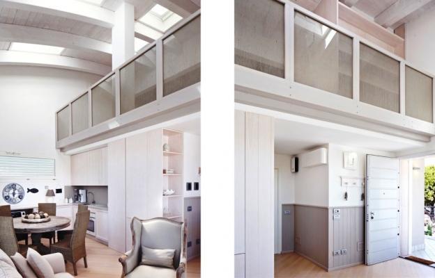 Loft su due livelli - realizzazione Crearredo Falegnameria