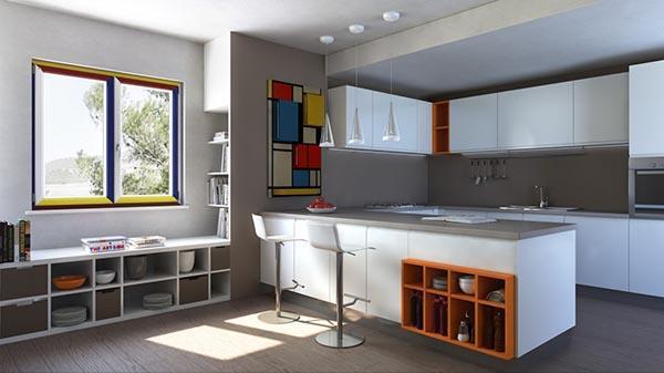 Infissi in PVC Mondrian - Finestre Nurith