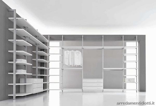 Cabina armadio a giorno - Arredamenti Diotti