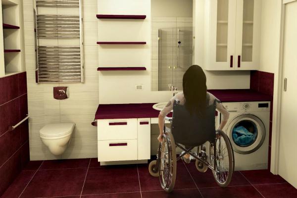 Bagno per disabili by Falegnameria Design