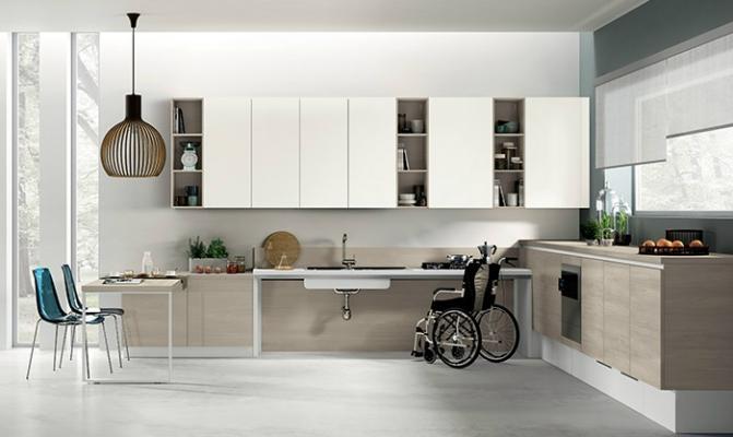 Cucina per disabili Utility System by Scavolini