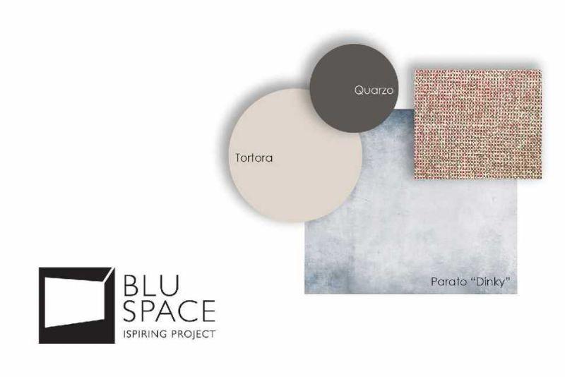 Studio colori e materiali zona relax appartamento