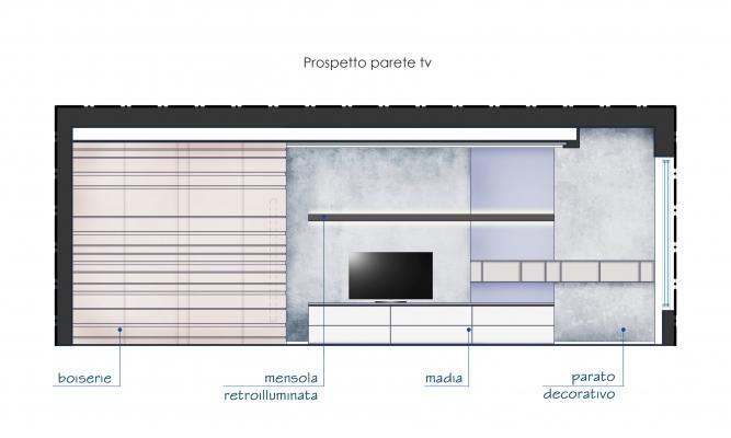 Progetto zona relax architetto Tommaso Marino studio Blu Space