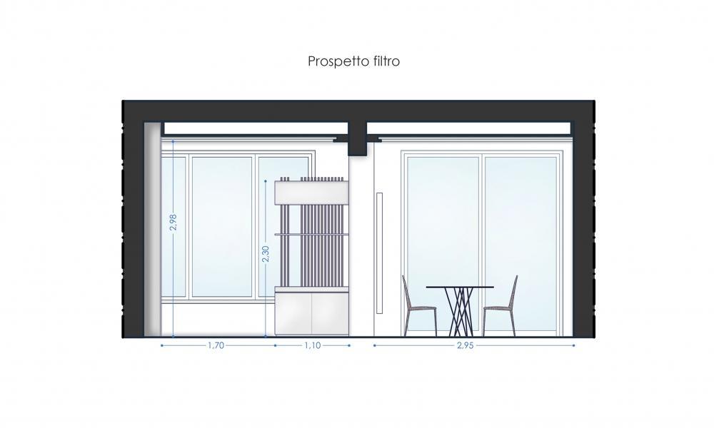 Progettazione spazio relax, architetto Tommaso Marino - studio Blu Space