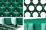 Particolare della griglia salvaprato in polietilene GreenSaver di BestPrato