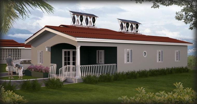 Casa con impianto minieolico-fotovoltaico My SolarMill di WindStream