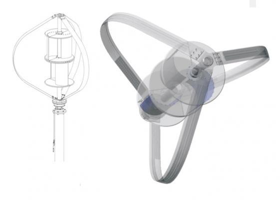 Turbine micro eoliche ad asse verticale DS300 di Etneo Italia