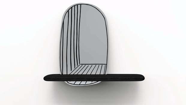 Specchio con mensola