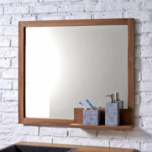 Specchio moderno bagno con mensola su Tikamoon