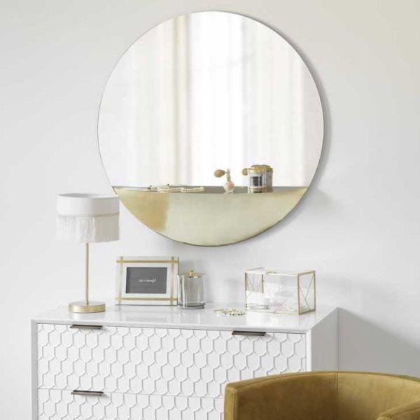 Specchio con mensola forma tonda di Maisons du Monde