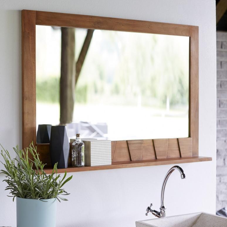 Specchio da bagno con mensola su Tikamoon