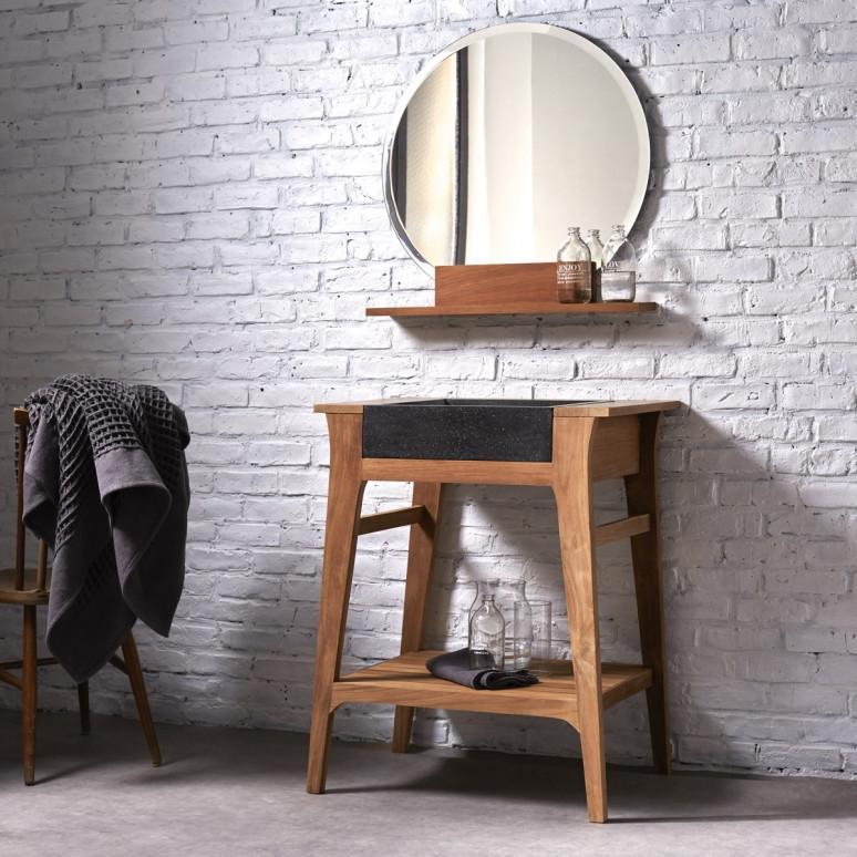 Specchio bagno mensola su Tikamoon