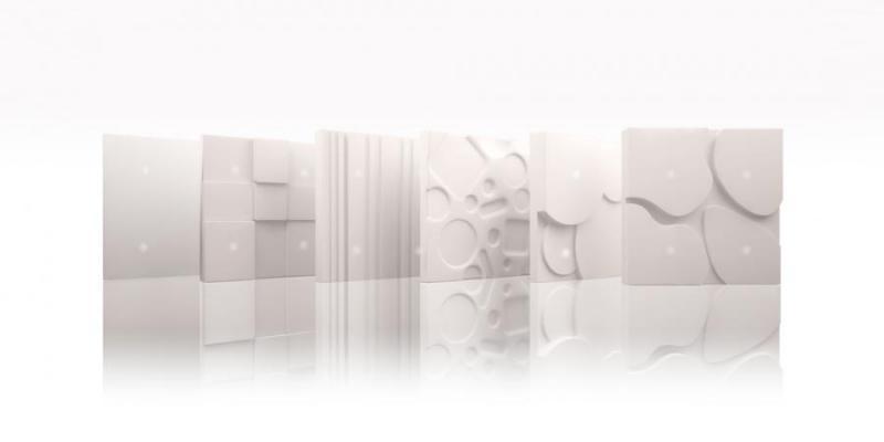 Placche per interruttori di corian bianco Tense Intensity Corian by Monobrand