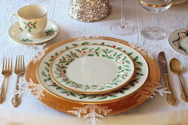 Sottopiantti Natale per la tavolata delle feste