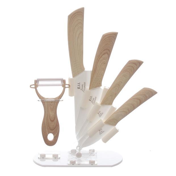 Set coltelli da cucina in ceramica, da Kasanova