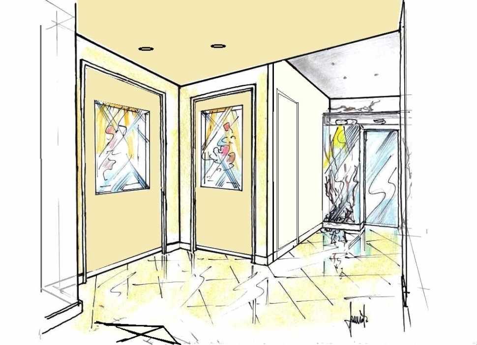 Disegno parete divisoria tra due appartamenti