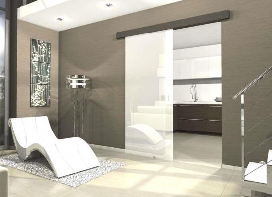 Frazionamento appartamento: porte scorrevoli in vetro Glassy - Protek