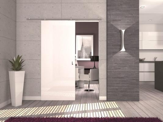 Frazionamento casa: porta scorrevole esterno muro Kit Laura Protek