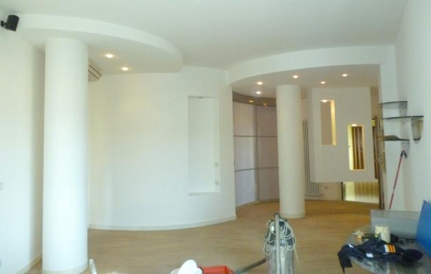 Divisione appartamento con muri curvi - BF Cartongesso